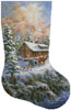 Winter Majesty Stocking (Right) - Cross Stitch Chart