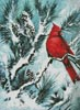 Winter's Glory Red Bird - Cross Stitch Chart