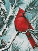 Winter's Glory Red Bird (Crop) - Cross Stitch Chart