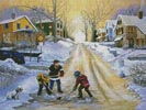 Winter Street Scene - Cross Stitch Chart