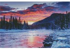 Winter Sunset - Cross Stitch Chart