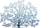 Winter Tree Silhouette - Cross Stitch Chart