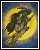Witch on a Broom - Cross Stitch Chart
