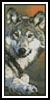Wolf 2 Bookmark - Cross Stitch Chart