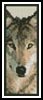 Wolf 3 Bookmark - Cross Stitch Chart