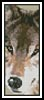 Wolf Bookmark - Cross Stitch Chart