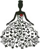Woman Silhouette with Butterflies - Cross Stitch Chart