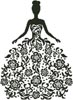 Woman Silhouette with Flowers - Cross Stitch Chart