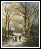 Wood Gatherers in a Winter Forest - Cross Stitch Chart
