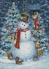 Woodland Snowman - Cross Stitch Chart