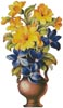 Yellow and Blue Flowers - Cross Stitch Chart