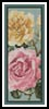 Yellow and Pink Roses Bookmark - Cross Stitch Chart