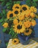 Yellow Country Flowers - Cross Stitch Chart
