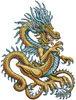 Yellow Dragon - Cross Stitch Chart