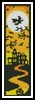 Yellow Halloween Bookmark - Cross Stitch Chart