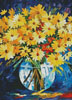 Yellow on Blue (Crop) - Cross Stitch Chart