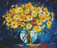 Yellow on Blue (Large) - Cross Stitch Chart