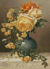 Yellow Roses in a Vase - Cross Stitch Chart