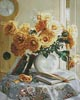 Yellow Roses Painting - Cross Stitch Chart