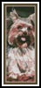 Yorkshire Terrier Bookmark - Cross Stitch Chart
