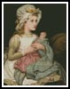 A Young Girl with Her Doll - Cross Stitch Chart