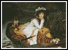 Young lady in a Boat - Cross Stitch Chart