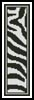 Zebra Bookmark - Cross Stitch Chart