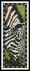 Zebra Eating Bookmark - Cross Stitch Chart